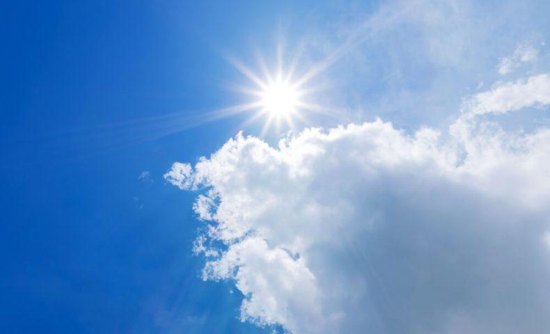 に当たる 日光